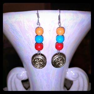 Handmade Vintage Button Earrings